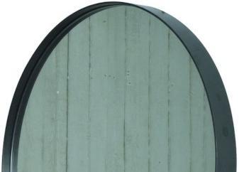 Spiegel Zwart Rond : Spiegel donna schwarz rund spinder design kaufen